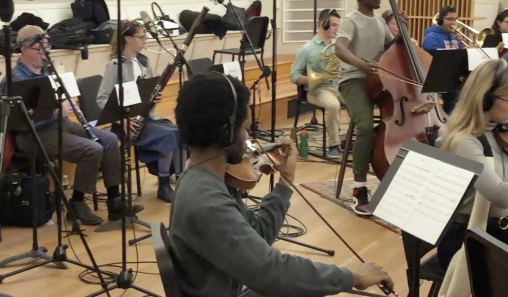 Orchestral Recording Studio Session